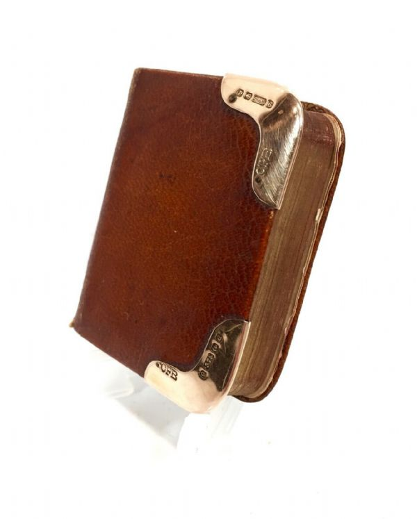 Edwardian Leather Common Prayer Book With 9ct Gold Mounts / William Whiteley